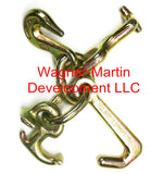 MD-GJRT1 Auto Body Frame Machine Tie Down G-70 Grab, Mini J, R, T Hook Cluster Forged USA
