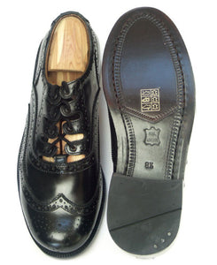 Leather Ghillie Brogues with Leather Sole