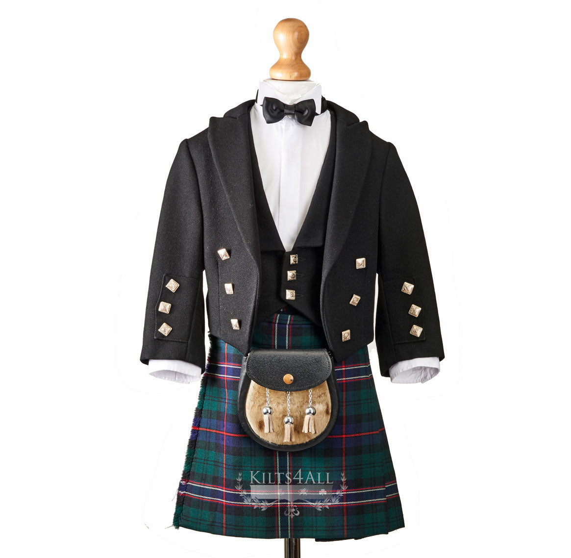 Boys Prince Charlie Jacket & 3 Button Waistcoat to Hire