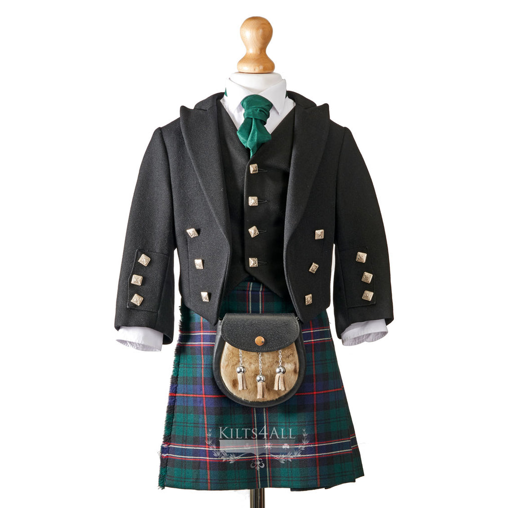 Boys Prince Charlie Jacket & 5 Button Waistcoat to Hire