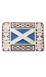 St. Andrews Saltire Enamel Belt Buckle
