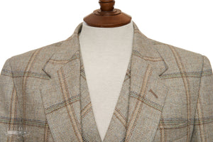 Mens Dove Check Tweed Sports Jacket & Waistcoat