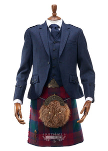 Mens Lightweight Navy Tweed Argyll Jacket & Waistcoat to Buy