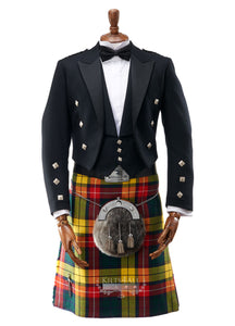 Mens Prince Charlie Jacket & 3 Button Waistcoat to Hire