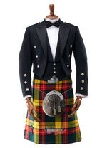 Mens Scottish Tartan Kilt Outfit to Hire - Prince Charlie Jacket & 3 Button Waistcoat