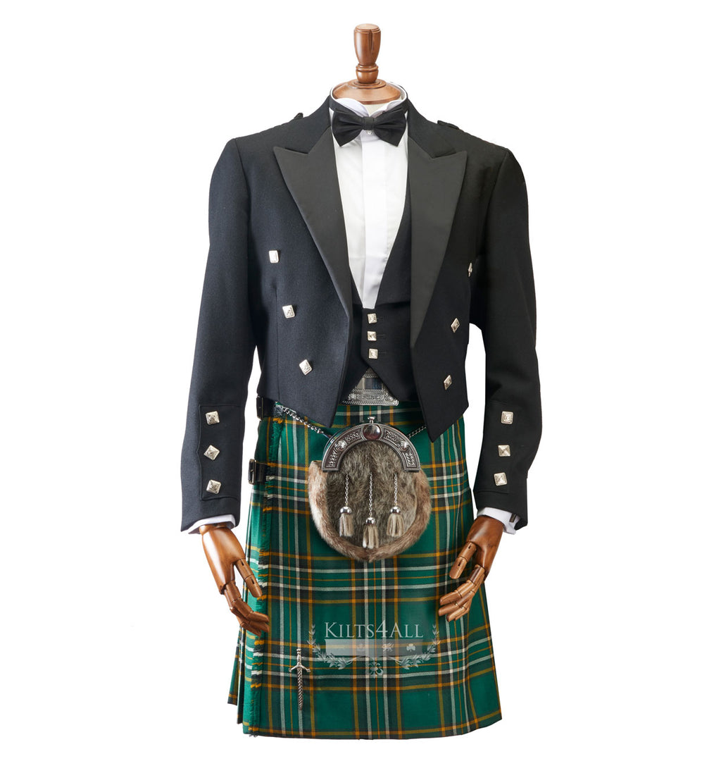 Mens Irish Tartan Kilt Outfit to Hire
