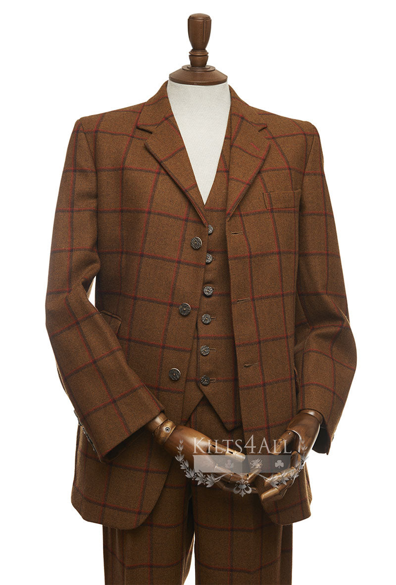 Mens Rupert Check Tweed Suit