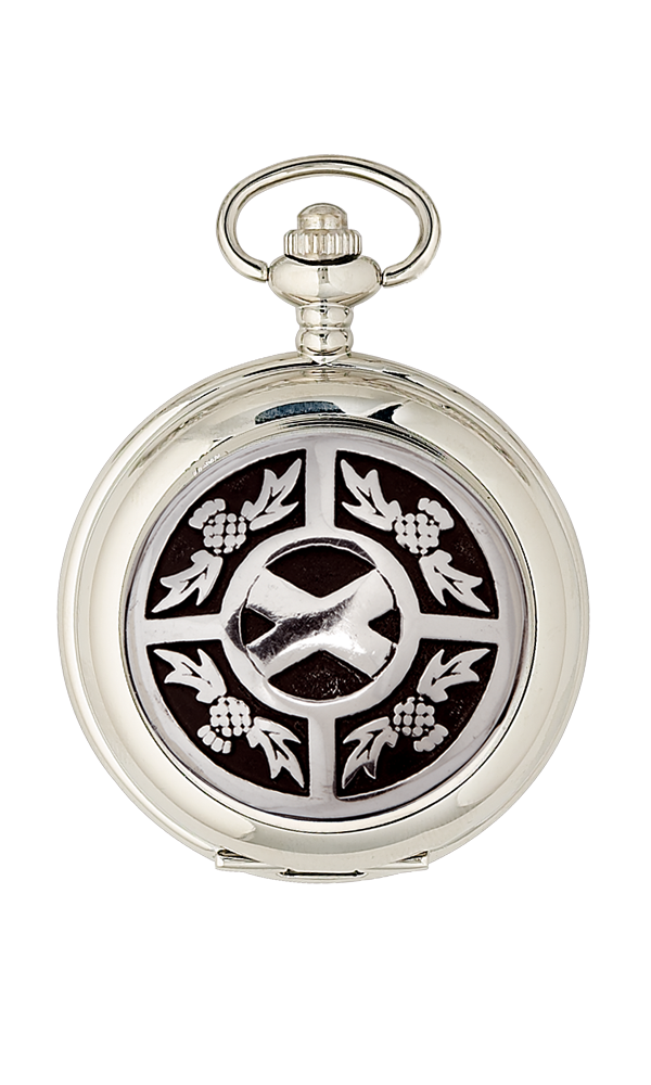 Thistle & Saltire Mechanical Pocket Watch