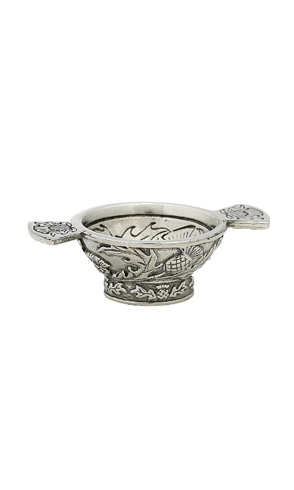 1.25'' Thistle Mini Pewter Quaich