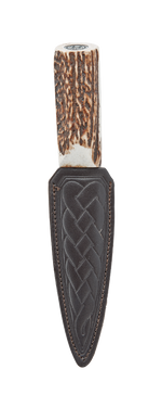 Day Wear Sgian Dubh with Horn Style Shank and Thistle Top