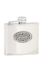 4oz Oval Celtic Stainless Steel Flask