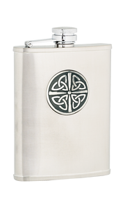 6oz Celtic Knot Stainless Steel Flask