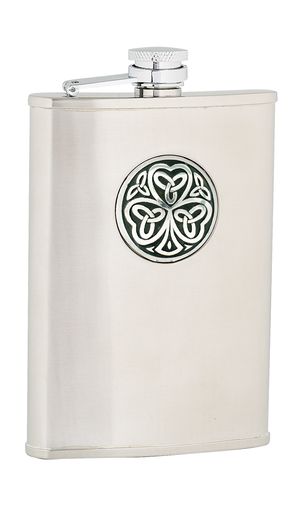 8oz Shamrock Stainless Steel Flask