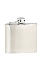 4oz Plain Satin Stainless Steel Flask