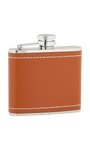 4oz Tan Leather Stainless Steel Flask