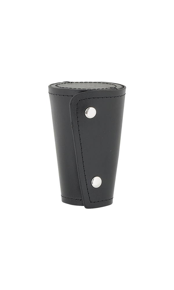 Set of 4 Large Cups In Black Leather Case