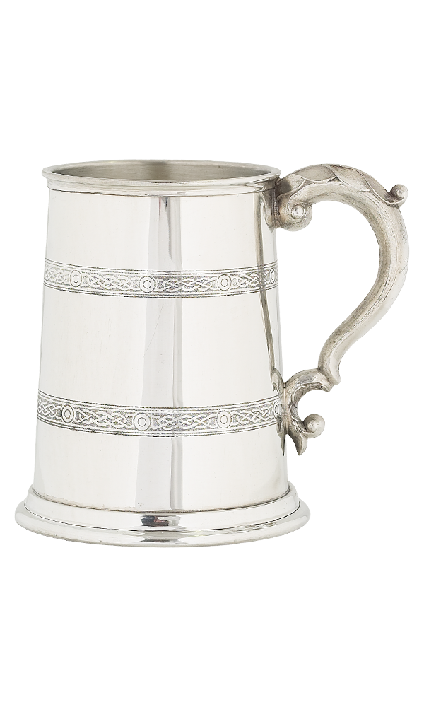Celtic Pint Pewter Tankard