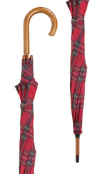 Royal Stewart Tartan Crook Umbrella