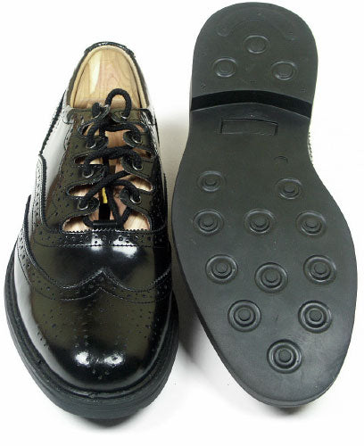 Leather Ghillie Brogues with Vibram Sole