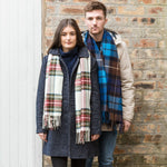 Luxury Oversized Tartan Lambswool Scarf