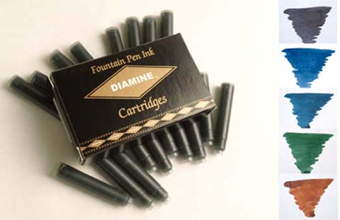 Diamine Refills Classic Mixed Set 20 Per Pack  Fountain Pen Cartridge
