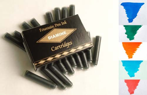 Diamine Refills Floral Mixed Set 20 Per Package  Fountain Pen Cartridge