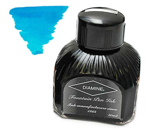 Diamine Refills Turquiose  Bottled Ink 80mL