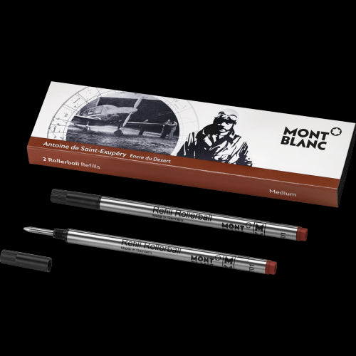 Montblanc Writers Edition Rollerball Refill Antoine de St. Exupery Medium Point 2 Pack