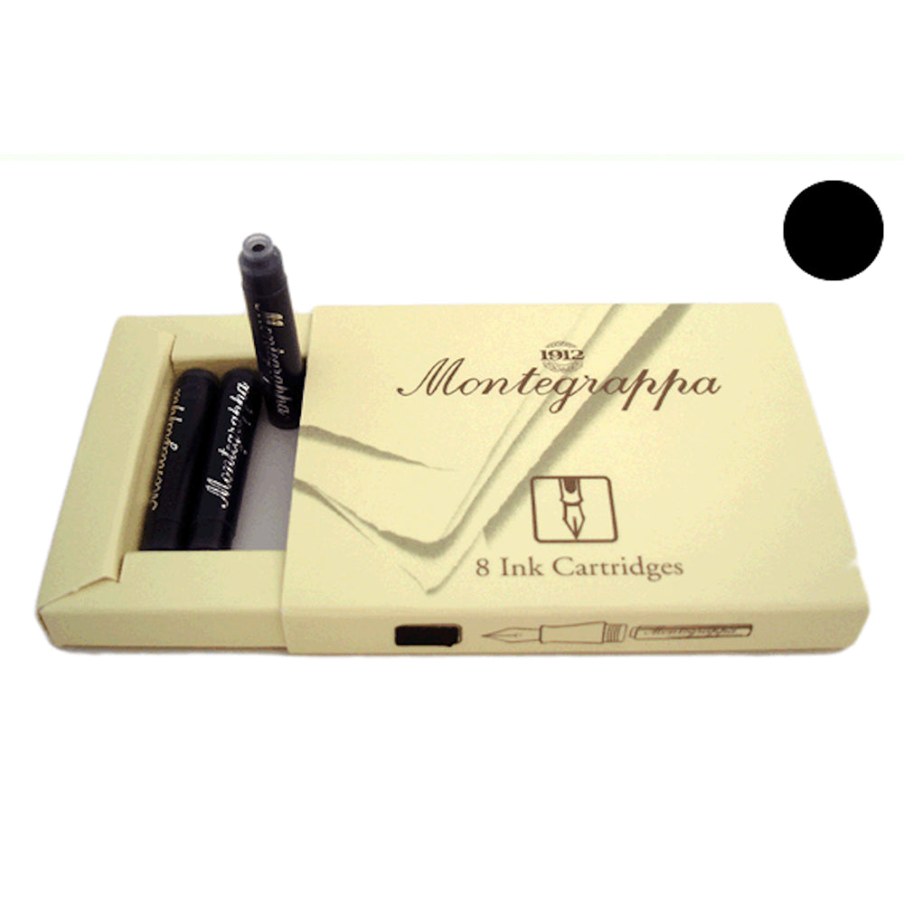 Montegrappa Refills Black FP Cartridges - Box of 8
