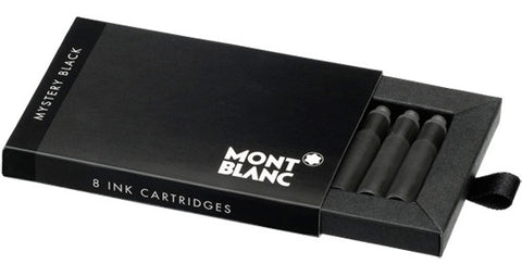 Montblanc Refills Mystery Black 8 per package  Fountain Pen Cartridge