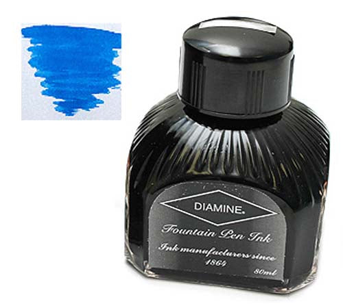 Diamine Refills Royal Blue  Bottled Ink 80mL