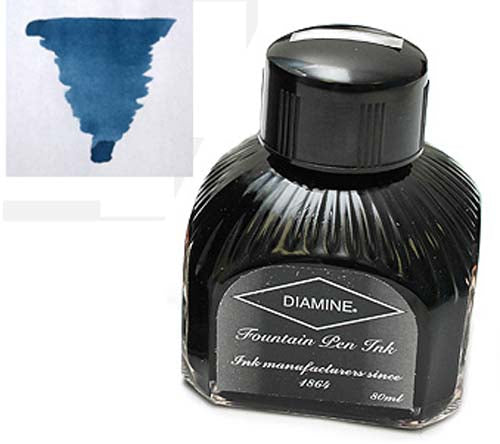 Diamine Refills Indigo  Bottled Ink 80mL