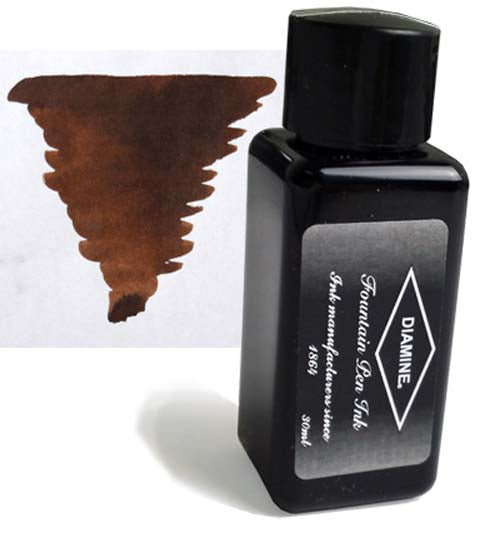 Diamine Refills Chocolate Brown 30mL  Bottled Ink