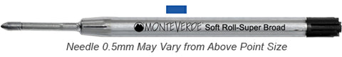 Monteverde Refills Soft Roll Needle Point Blue for Parker .5mm Ballpoint Pen