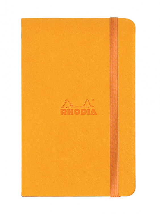 Rhodia Webnotebook - Orange - Lined - 3.5 x 5.5