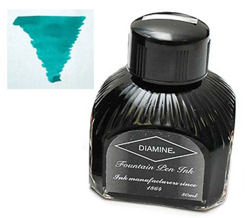 Diamine Refills Soft Mint  Bottled Ink 80mL