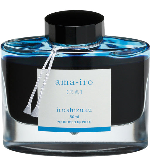 Namiki Pilot Iroshizuku Bottled Ink - Ama-Iro - Blue Sky - Light Blue
