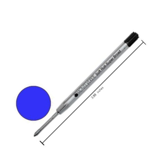 Monteverde Parker-Style Blue 1.4mm Broad Soft Roll BP Refills