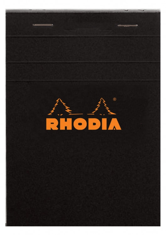 Rhodia Staplebound - Notepad - Black - Graph - 6 x 8.25