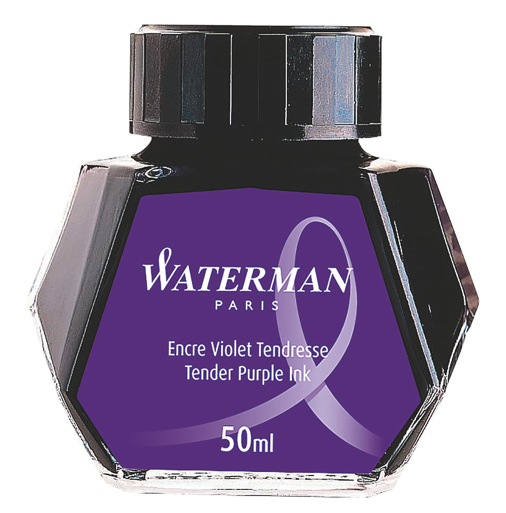 Waterman Fountain Pen Bottled Ink - Tender Purple
