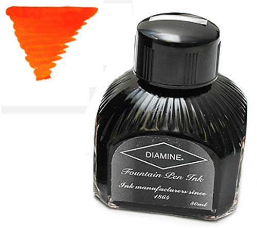 Diamine Refills Orange  Bottled Ink 80mL
