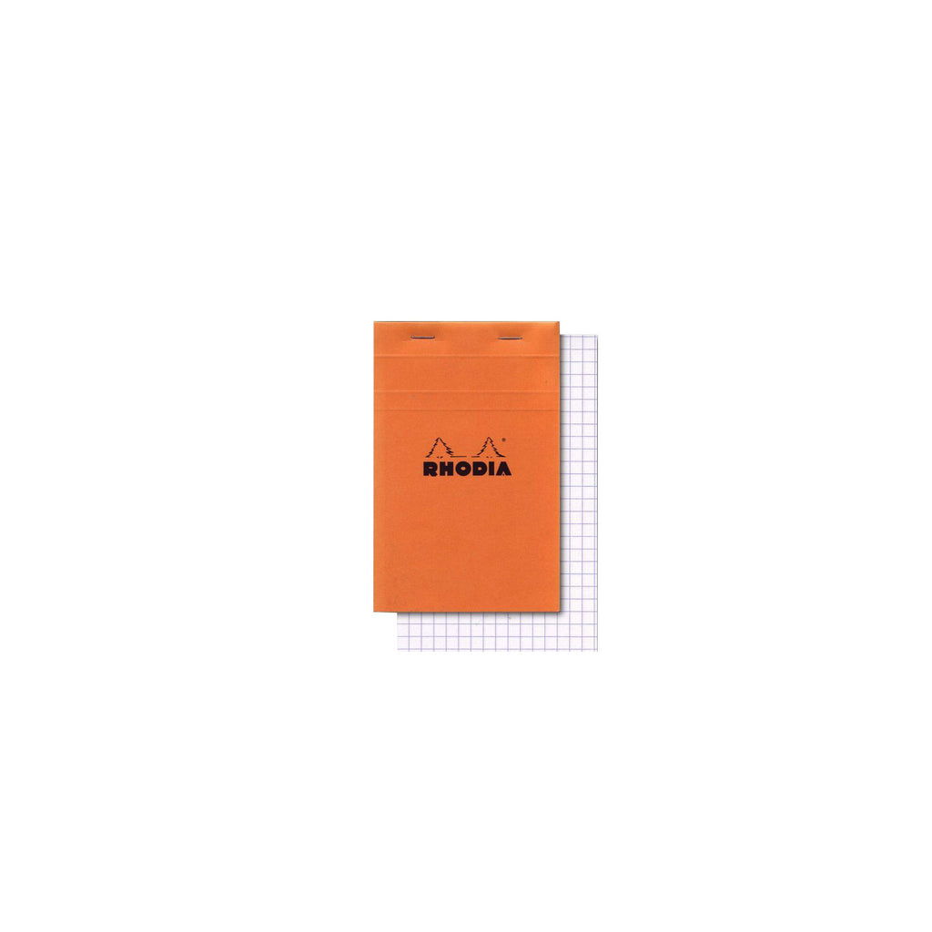 Rhodia Staplebound - Notepad - Orange - Graph - 4 X 6