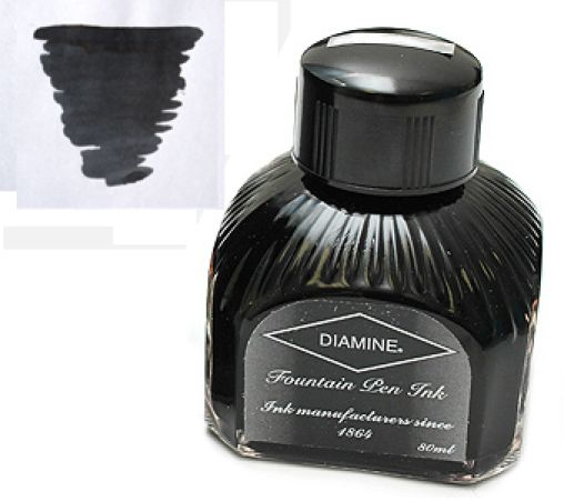 Diamine Refills Quartz Black  Bottled Ink 80mL