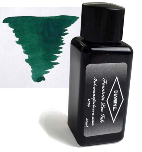 Diamine Refills Sherwood Green 30mL  Bottled Ink