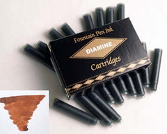 Diamine Refills Dark Brown Pack of 18  Fountain Pen Cartridge