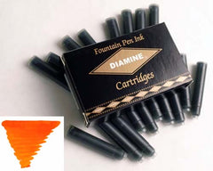 Diamine Refills Orange Pack of 18  Fountain Pen Cartridge