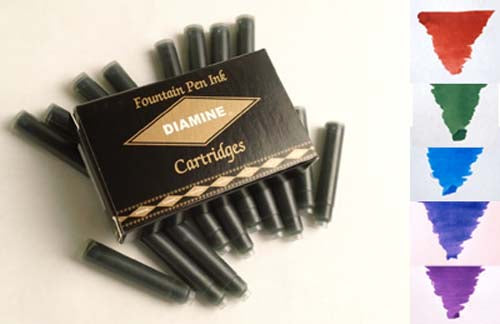 Diamine Refills Regal Mixed Set 20 Per Package  Fountain Pen Cartridge