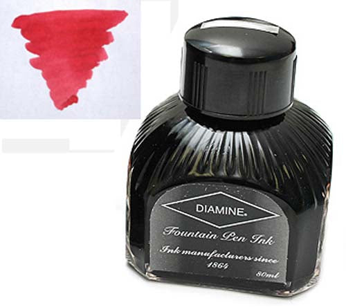 Diamine Refills Maroon  Bottled Ink 80mL