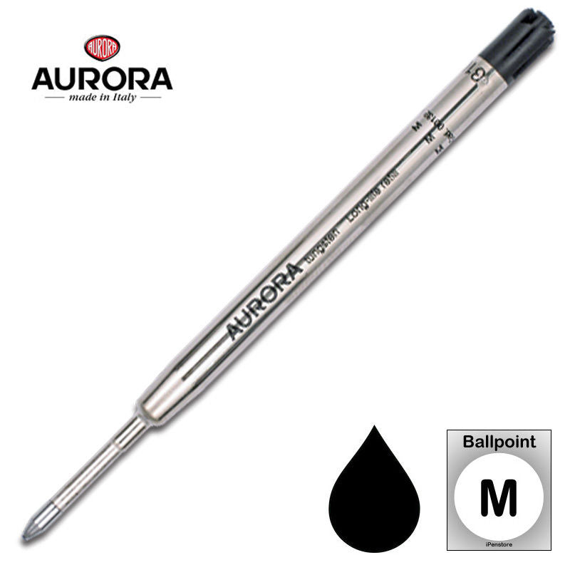 Aurora Refills - Long Life - Black - Medium Point - Ballpoint Pen
