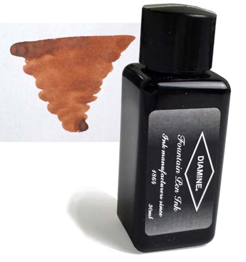 Diamine Refills Dark Brown 30mL  Bottled Ink